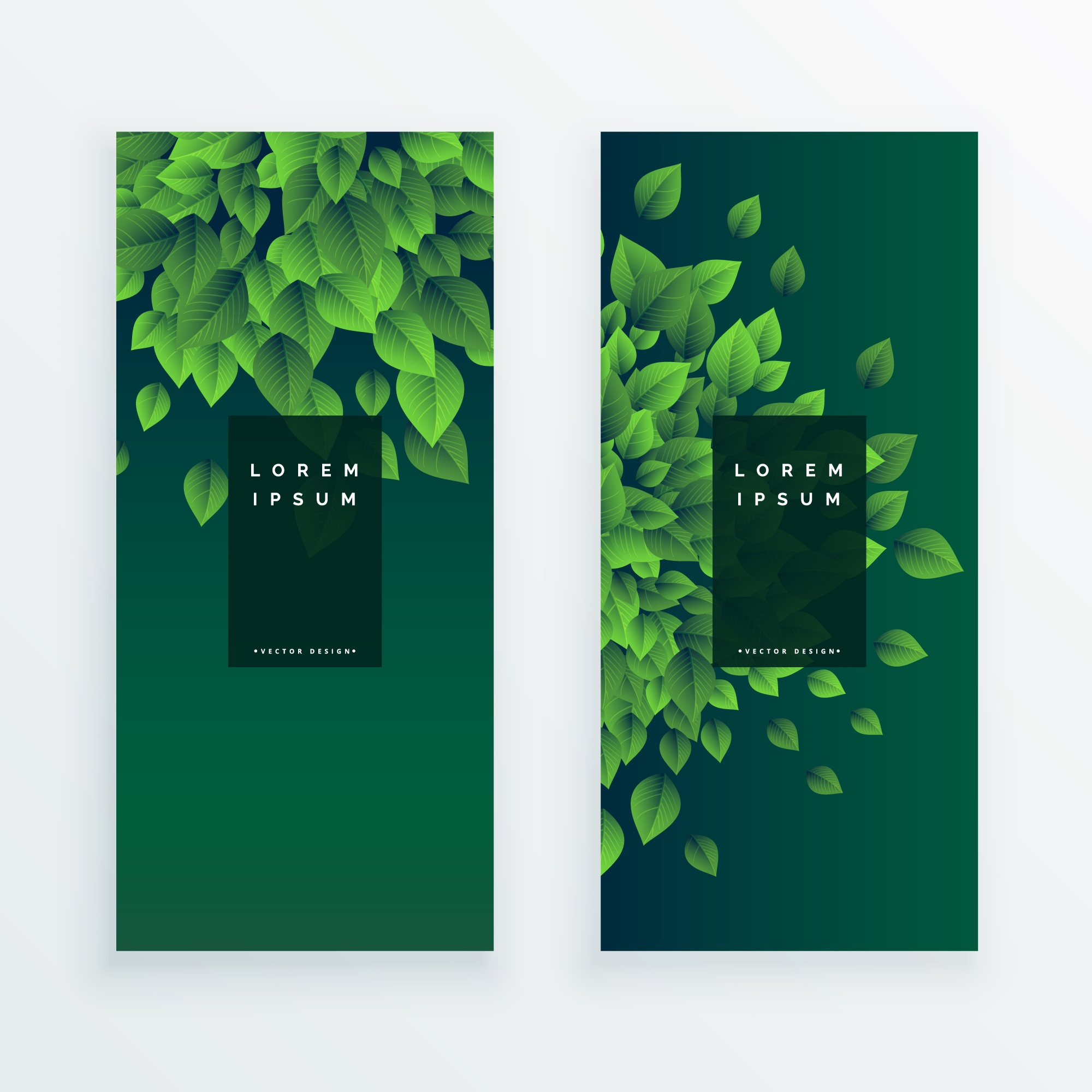 Set of two nature banners