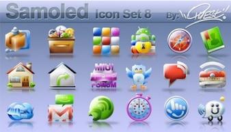 Set of ui elements icons