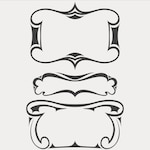 Set of vector frames in artdeco style
