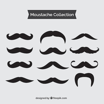 Set of vintage black mustache