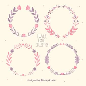 Set of vintage colored wreaths