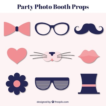 Set of vintage elements for photo booth