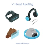 Set of virtual reality elements