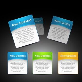3つの異なる色でベクトルのWeb要素
