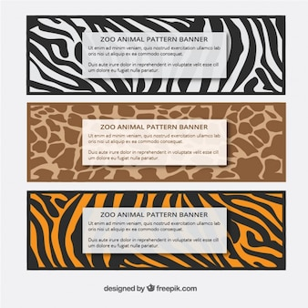 Set of wild animals banners