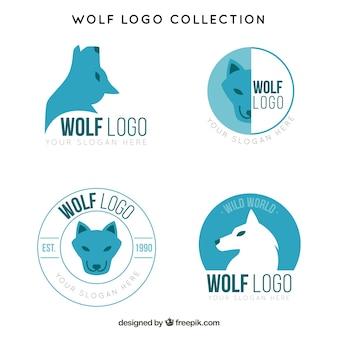 Set of wolf logos