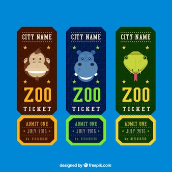 Set of zoo tickets