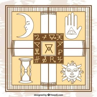 Several alchemy symbols