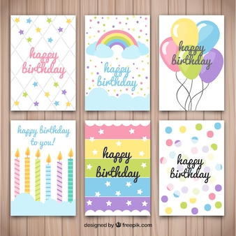 Several birthday cards with nice designs