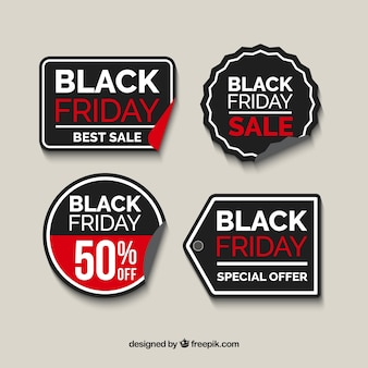 Several decorative sale stickers for black friday