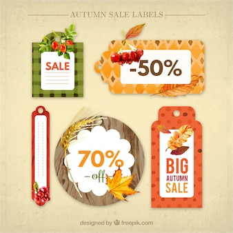 Several discount autumn stickers
