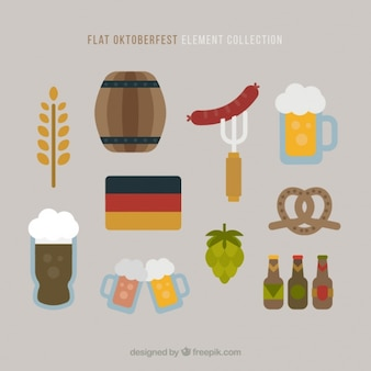 Several elements to the oktoberfest festival