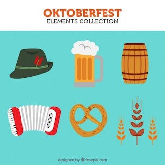 Several iconic elements of oktoberfest