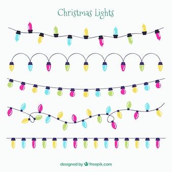 Several lights string in flat design