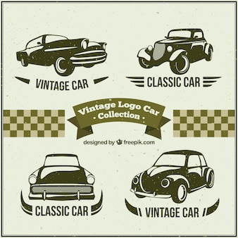 Several logos with classic cars