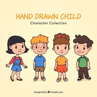 Several lovely hand drawn children