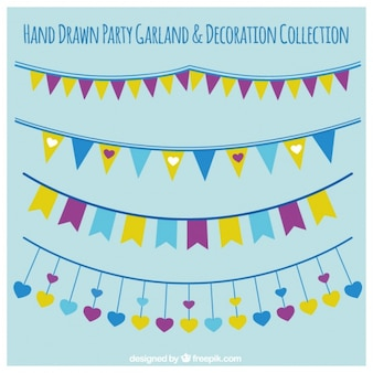 Several party garlands