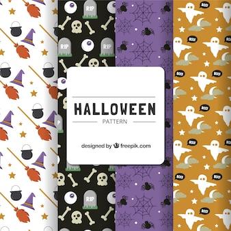 Several patterns halloween