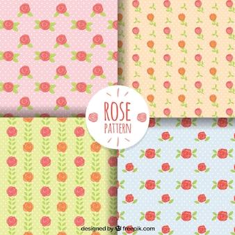 Several rose patterns