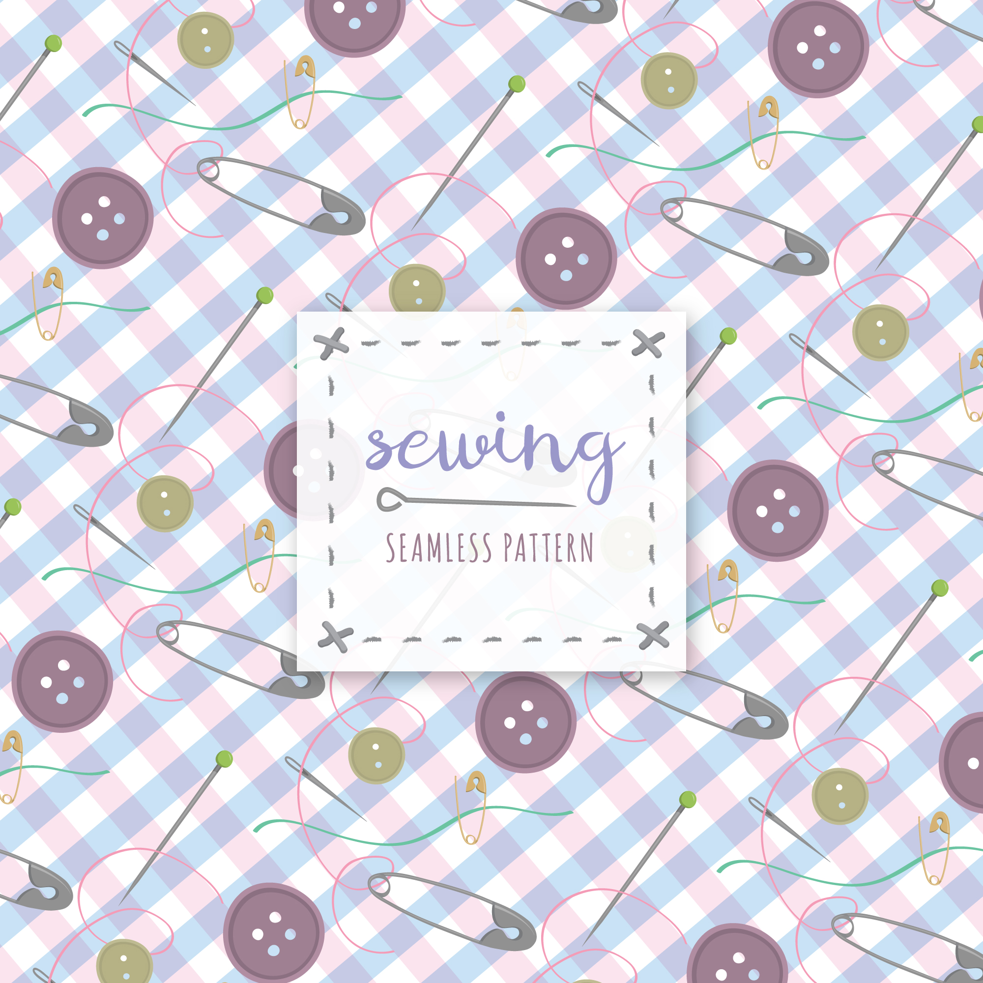 Sewing pattern background