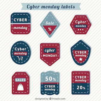 shaped cyber monday tags
