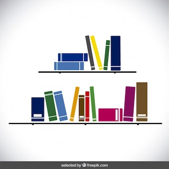 Shelves with colorful books