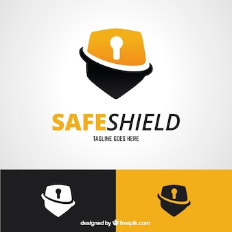 Shield logo padlock