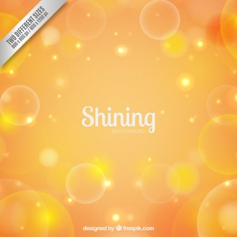 Shining background in yellow tones