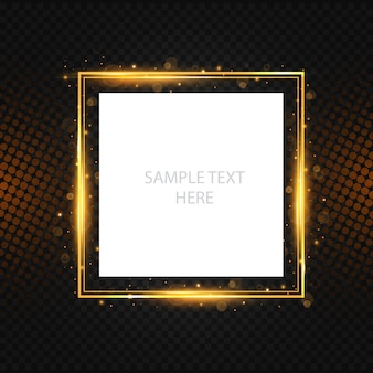 Shining luxury frame with halftone background