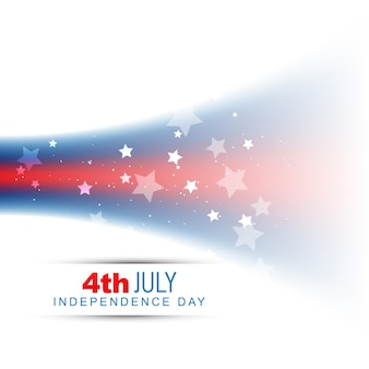 Shiny abstract independence day design