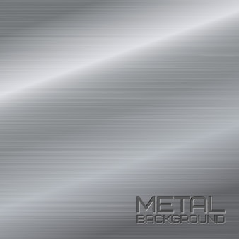 Shiny abstract metal background with steel silver chrome surface vector illustration