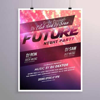 Shiny abstract party poster template