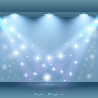 Shiny background with spotlights
