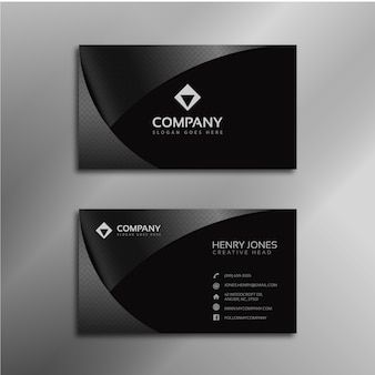 Shiny black business card