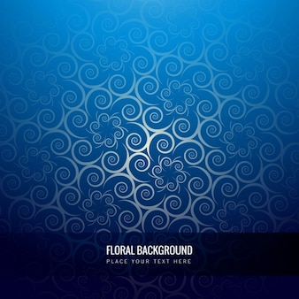 Shiny blue floral background