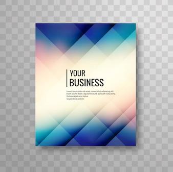 Shiny blue geometric business brochure design