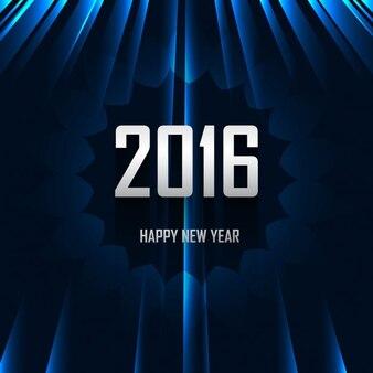 Shiny blue happy new year 2016 card
