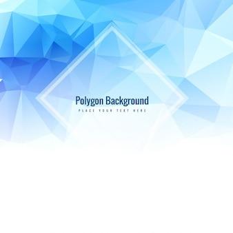 Shiny blue polygonal background
