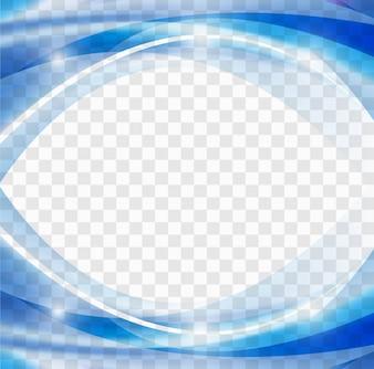 Shiny blue wavy background