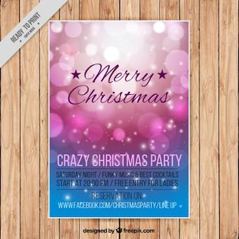 Shiny christmas bokeh brochure