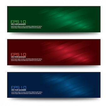 Shiny coloured banners collection