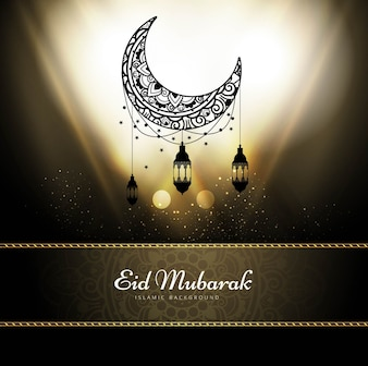 Shiny design for eid mubarak