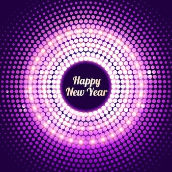 shiny dotted new year background in purple color