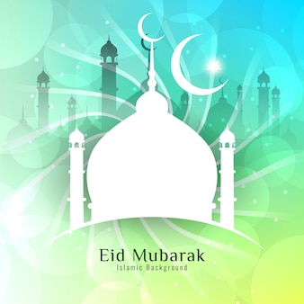 Shiny eid mubarak vector design
