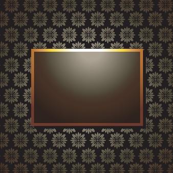 Shiny frame in retro style