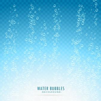 Shiny fresh water bubbles background
