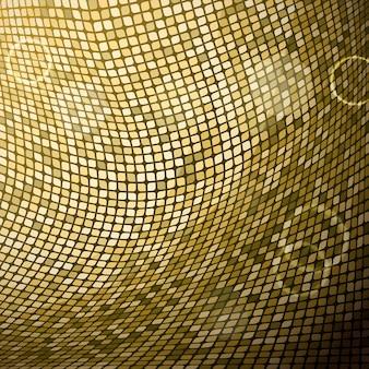 抽象的な黄金のモザイク背景