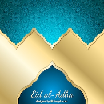 Shiny golden background of eid al-adha