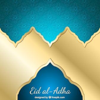 Shiny golden background of eid al-adha