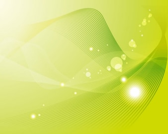 Shiny green abstract waves background